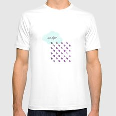 Rain drops Mens Fitted Tee White SMALL