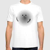 Moirè Friend Mens Fitted Tee White SMALL