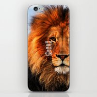BOLD AS LIONS iPhone & iPod Skin