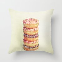 Stack of Donuts Throw Pillow