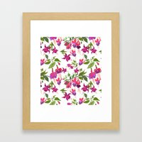 April Blooms IV - Fuchsi… Framed Art Print