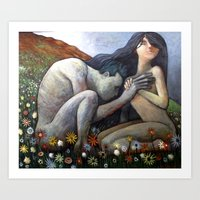 Nudes On A Hillside Art Print