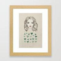 Green Girl Framed Art Print