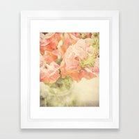 Peach Bunch Framed Art Print
