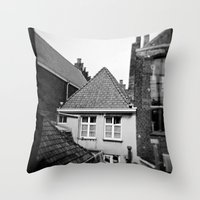 · My home...· Analogical Photography Black & White Throw Pillow