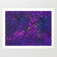 Blue Lilac Decorative Sq… Art Print