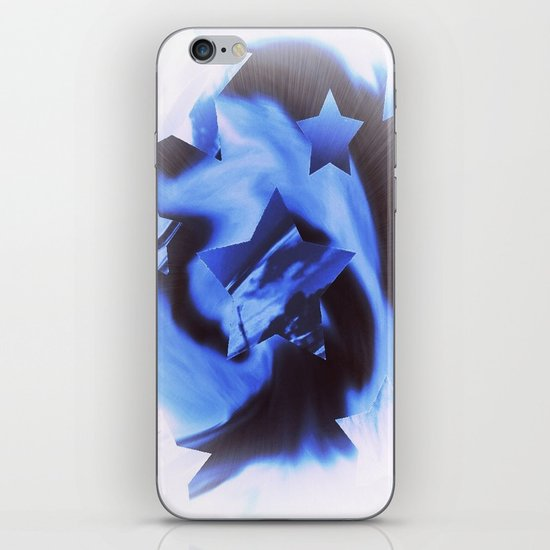 Starburts II cold blue iPhone & iPod Skin