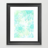Flowery Framed Art Print