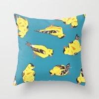 Goldfinches Throw Pillow