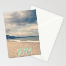 LIFE IS A BEACH Stationery Cards