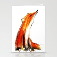 Wise Fox Reverse Stationery Cards