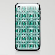 iPhone & iPod Skin featuring Glass Blocks Teal by Alice Gosling