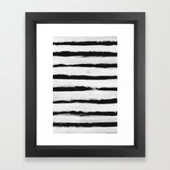 BW Stripes Framed Art Print