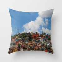 Throw Pillow featuring Colorful City by Renee Trudell