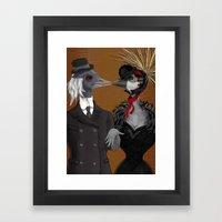 Demoiselle Crane And Gre… Framed Art Print