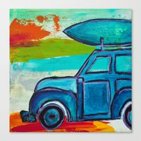 Let's Go Surfing Canvas Print