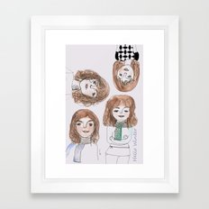 Hello winter Framed Art Print