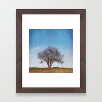 Simple Tree Framed Art Print