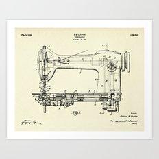 Sewing Machine-1944 Art Print