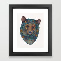 Constellation Bear Framed Art Print