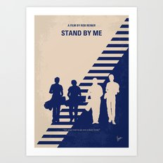 No429 My Stand by me minimal movie poster Art Print