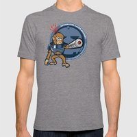 Automated Laser Monkey Mens Fitted Tee Tri-Grey SMALL