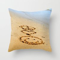 Peace Love and Happiness Throw Pillow