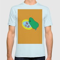 Beans2 Mens Fitted Tee Light Blue SMALL