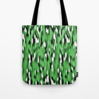 Green Leopard Pattern Tote Bag
