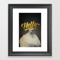 Vintage Quotes Collection -- Hello Framed Art Print