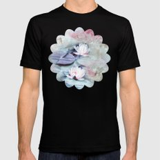 SUMMER LILY POND Mens Fitted Tee Black SMALL