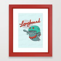 Longboard Framed Art Print