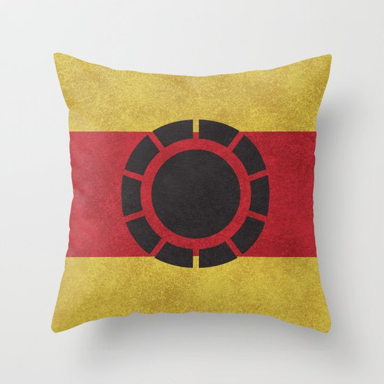 Iron Clade Colors Throw Pillow