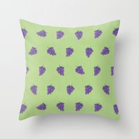 Cute Purple Grapes Pictu… Throw Pillow