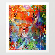 The Deer In The Thicket Art Print