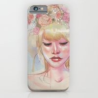 Watercolors and Floral Crowns iPhone 6 Slim Case