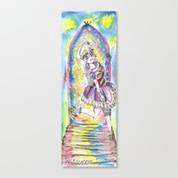 Princess in night colorful Canvas Print