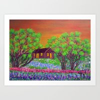 Meadow in the Sunrise Art Print