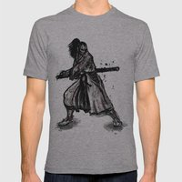 Bloody Samurai Mens Fitted Tee Athletic Grey SMALL