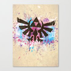 Splash Triforce Emblem Canvas Print