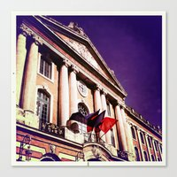 Canvas Print featuring CAPITOLIUM / TOULOUSE by SABOTAGE