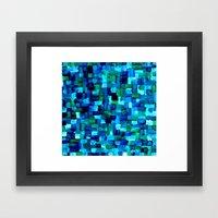 Abstract Tiles Of Blue A… Framed Art Print