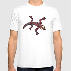 Lizard White SMALL Mens Fitted Tee