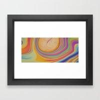 Caramel And Pastel Swirl… Framed Art Print