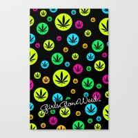 Canvas Print featuring GGDUB - Neon Weed Leaf  by GGDUB