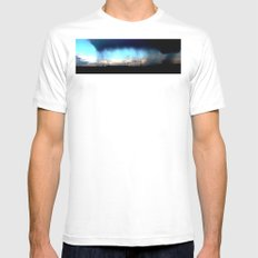 Cave from clouds.  White SMALL Mens Fitted Tee