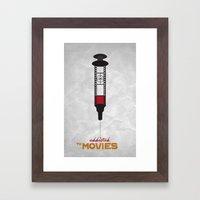 Addicted: Movies Framed Art Print