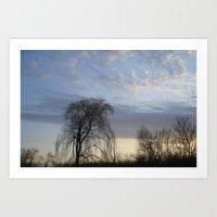 Willow On The Horizon Art Print