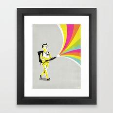 A Murray of Sunshine Framed Art Print