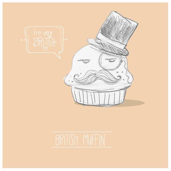 british muffin Art Print
